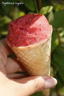 Dietetyczne lody truskawkowe