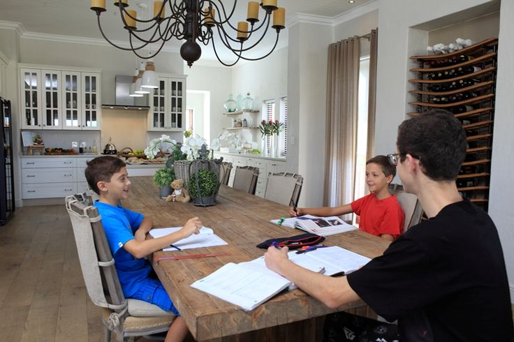 Love the open plan living area of this house for the kids to draw and do their homework