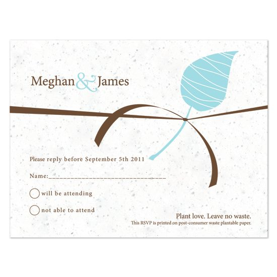Embrace Plantable Reply Card