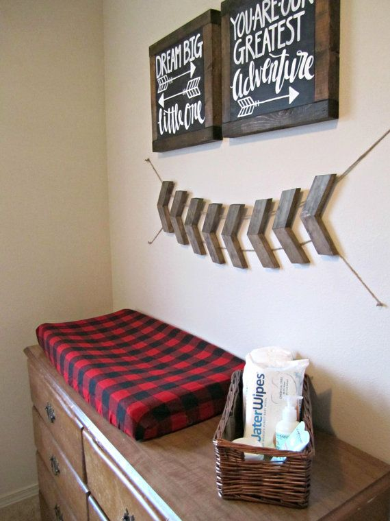 arrow chevron garland tribal woodland nursery by
