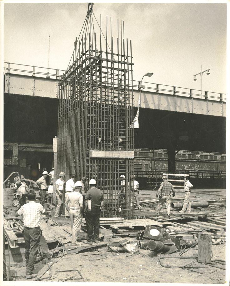 World Trade Center construction ca. 1967 / Collection of the 9/11 Memorial Museum, Gift of Arturo L. Ressi di Cervia