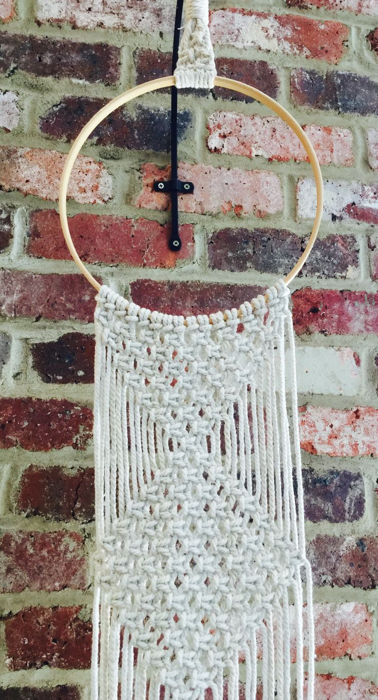 Home Decor Macrame Wall Hanger On Embroidery Ring Macrame Wall Hanger Home