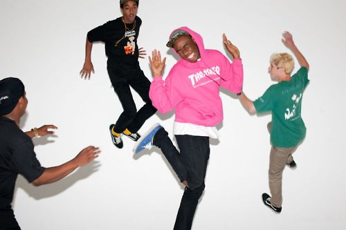 Jasper, Taco, Tyler the Creator, & Lucas Prancing around