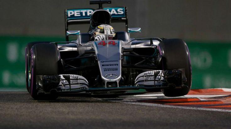 Lewis Hamilton (Mercedes) au Grand Prix d'Abou Dabi 2016