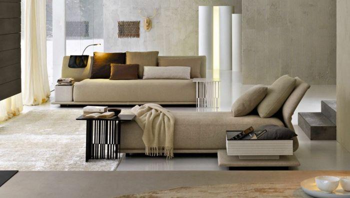 Schlafsofa leder polstermöbel sitzmöbel moderne wohnzimmer ideen