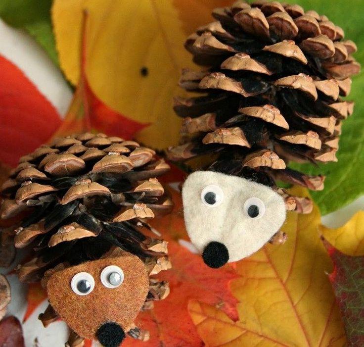 bricolage enfants écureuilles en pommes de pin
