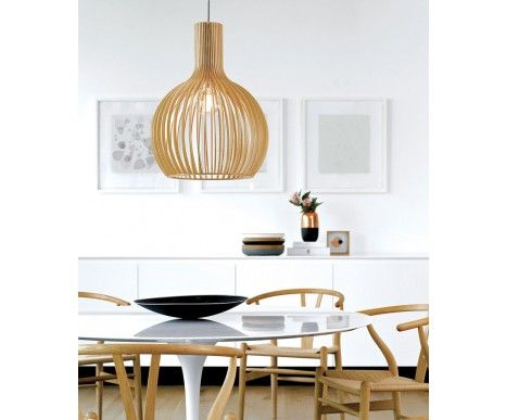 Malmo 1 Light 350mm Pendant in Natural Wood | Modern Pendants | Pendant Lights | Lighting