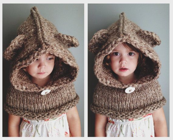 Hooded Bear Cowl by AddieBooAccessories on Etsy
