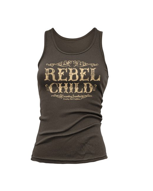 Country Junkie Nation Women's Rebel Child Tank Top http://www.countryoutfitter.com/products/60954-womens-rebel-child-tank-toplhs=u_p_p_n_a&lhb=MP&lhc=womens_apparel&lhg=country_junkie_nation_rebel&utm_source=pinterest&utm_medium=social