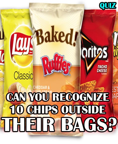 How well do you know the different kinds of potato chips? Answer these 10 potato chips outside their bag!