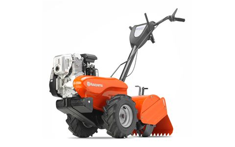 The dual rotating tines on the DRT900H provide deep soil tilling on densely packed earth as well as older lawns.