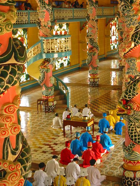 Temple life in Vietnam, Cao Dai Temple at Tay Ninh