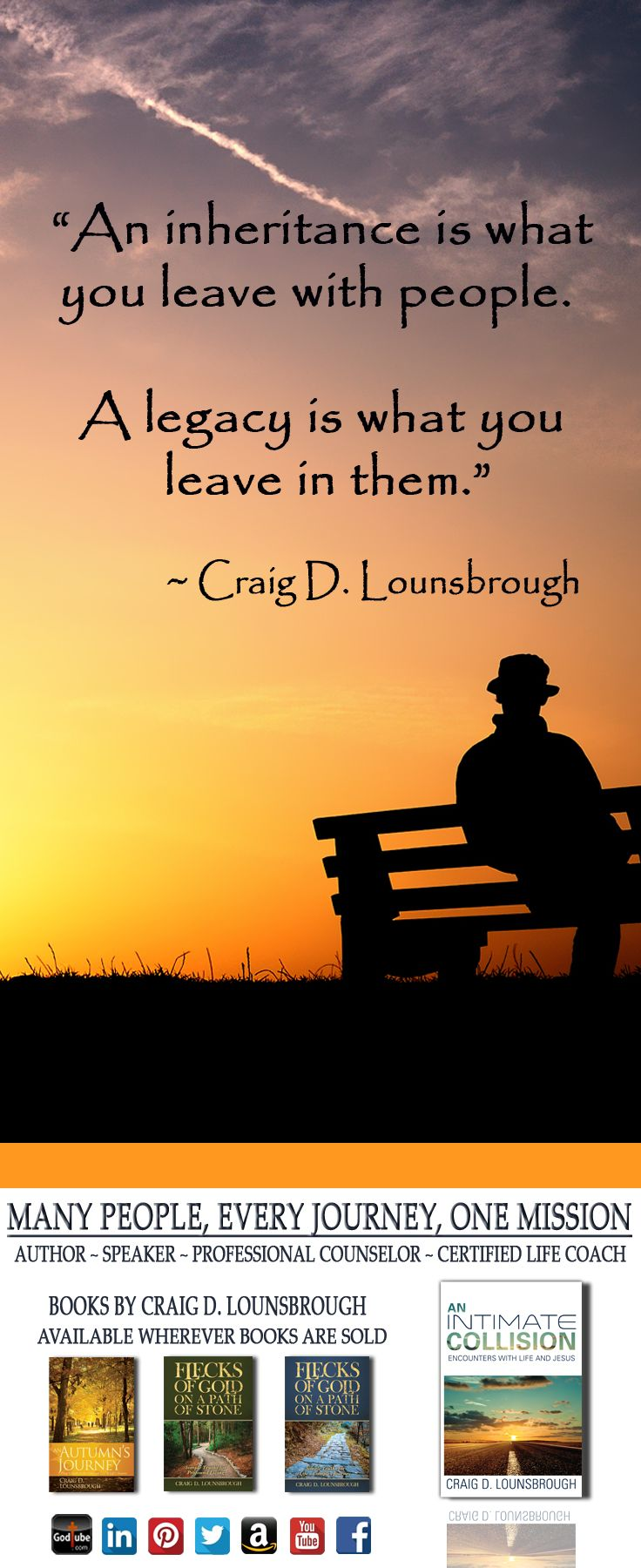 If the footprints I leave through life are no bigger than my shoe-size, I'm probably not leaving a whole lot for others to follow.  It might therefore be wise to swap out my shoe-size for God's.  See more at https://clounsbrough.wordpress.com/.