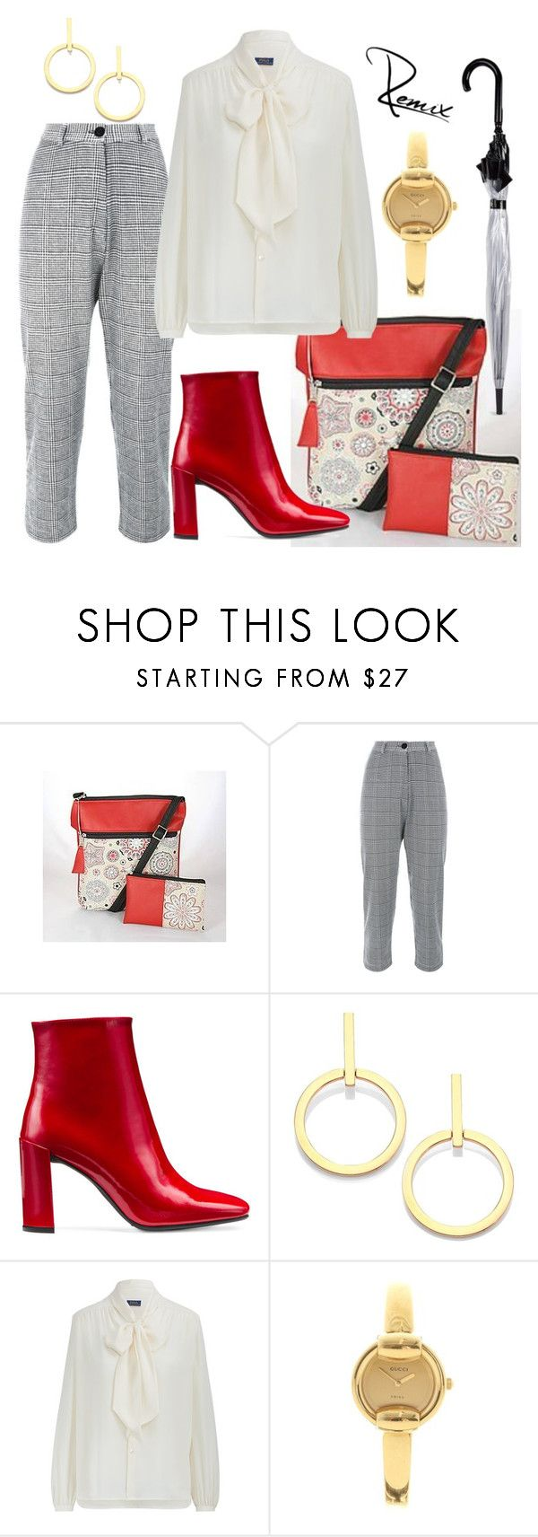 """Rainy workdays"" by aleva on Polyvore featuring Stuart Weitzman, Vita Fede, Gucci and Fulton"