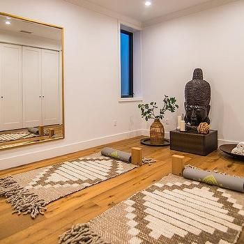Home Yoga Room Design heres an example of a colorful yoga studio design i think it works but Zen Yoga Room With Stone Buddha