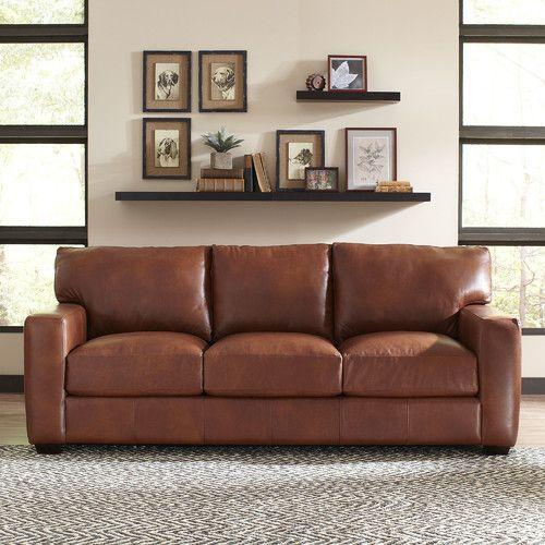 found it at joss u0026 main peterson leather sofa i like the natural grain f