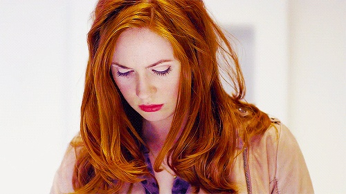 Amy Pond - I want that hair... I think I'm gonna die my hair this color... But will that make me too much of a fan girl? Lol