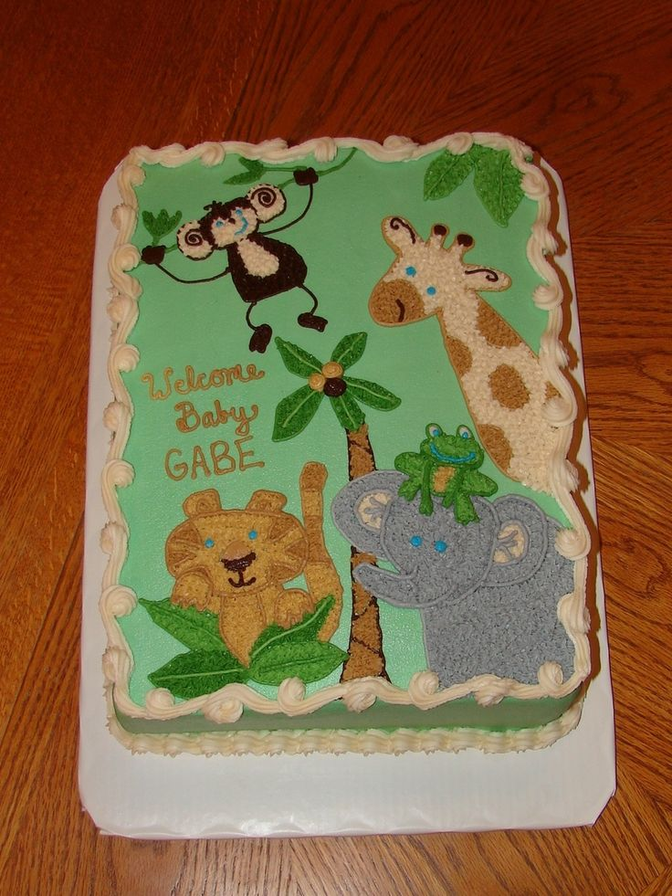 Baby Shower Cakes Jungle Animals ~ Images about baby shower on pinterest