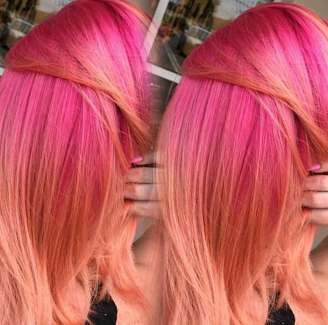 Pink Coral Hair Melt  Hair Dyes  Pinterest  Color