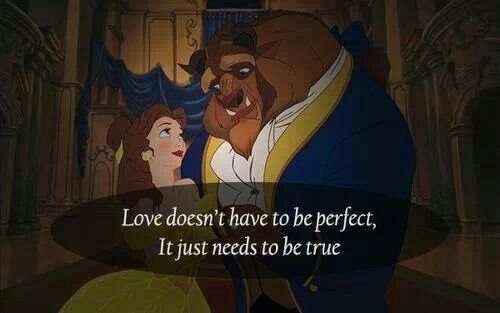 Love doesn't have to be perfect, it just needs to be true Xoxo F