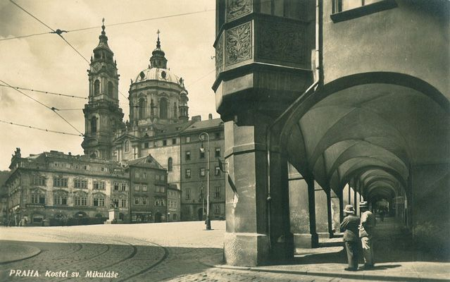 Malostranské Square and Church of St. Nicholas, 1934