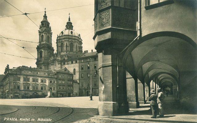 Malostranské Square and Church of St. Nicholas, 1934