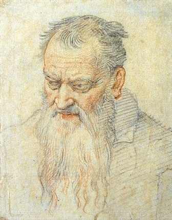 Federico Zuccari,  Head of an old man  Courtesy Royal Museums of Fine Arts of Belgium