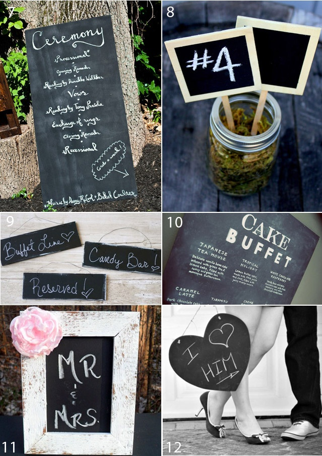 Chalkboard Inspiration Wedding Diy Black And White