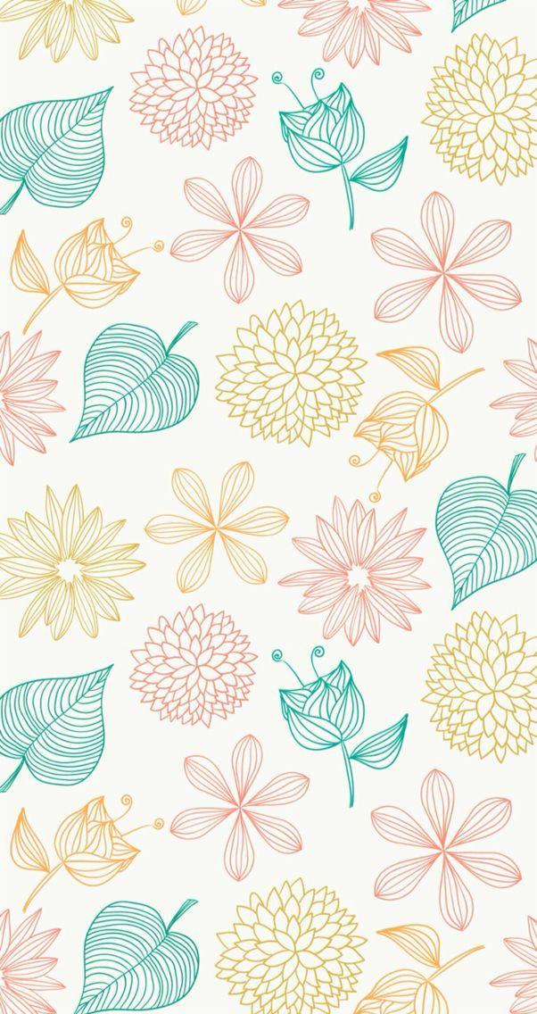 Floral Pattern Wallpaper Simple Wallpapers Cute Patterns Wallpaper