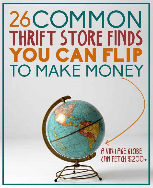 20 common thrift store (or garage sale) finds you can flip to make money Money Making Ideas, Making Money, #MakingMoney
