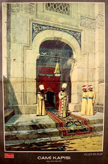 Osman Hamdi bey cami avlusu tablosu.