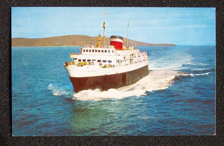 Blue Nose Ferry | 1950s M V Bluenose Ferry Yarmouth NS Bar Harbor Me PC | eBay
