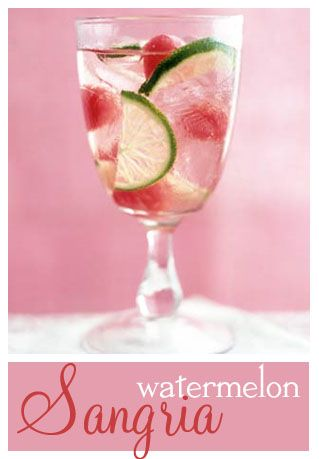 Watermelon Sangria - I give this a 10 out of 10!Cranberries Juice, Summer Drinks, Food, Watermelon Sangria, Watermelonsangria, White Wine, White Sangria Recipe, Refreshing Drinks, Cocktails