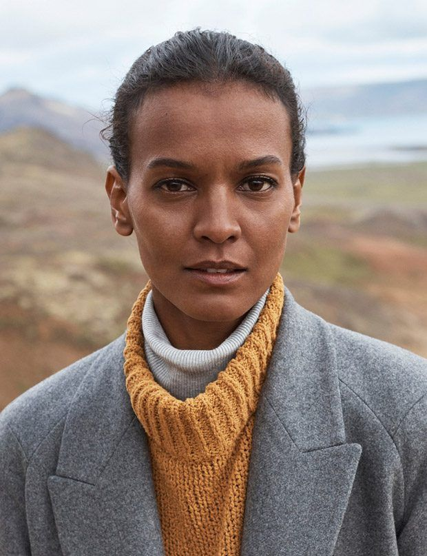 6ee7c8e3fb4da Liya Kebede Models Mango Committed Fall Winter 2017.18 Collection ...