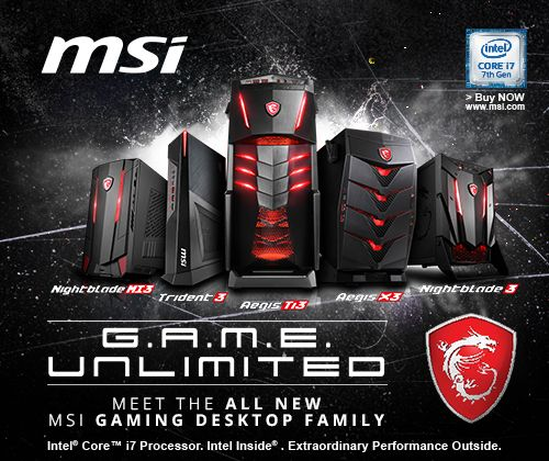 Check out this quiz from MSI! Answer questions and win prizes every 48 hours!