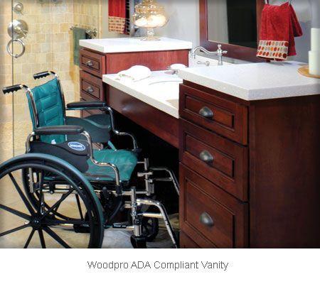 Woodpro ADA Compliant Vanity Base with Optional Tops, Sink ...
