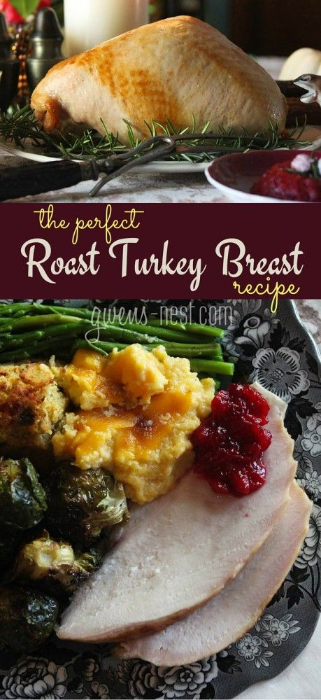 WOW! This is SO simple! A perfect roasted turkey breast recipe that turns out perfect every single time.