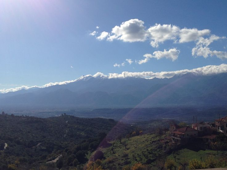 Evrotas valley seen from the top of Theologos village