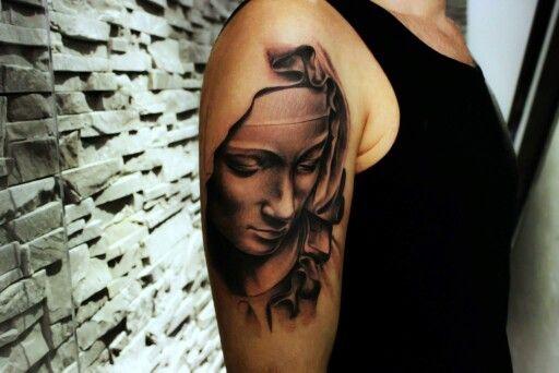 Virgin Mary tattoo by Mariusz Kaczmarek
