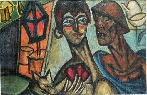 Израиль Мексин. Красный фонарь. 1916