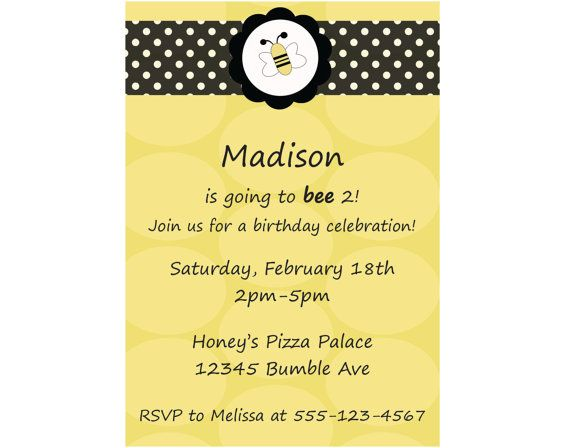Best 20 Bee Invitations ideas – Bumble Bee Party Invitations