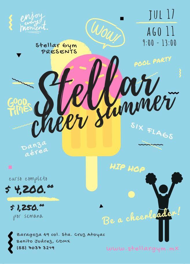 ¿Buscas curso de verano? La mejor y más divertida opción es en Stellar Gym.  Be a cheerleader!