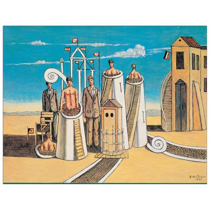 DE CHIRICO - Bagni misteriosi 78x60 cm #artprints #interior #design #art #prints  Scopri Descrizione e Prezzo http://www.artopweb.com/EC21796