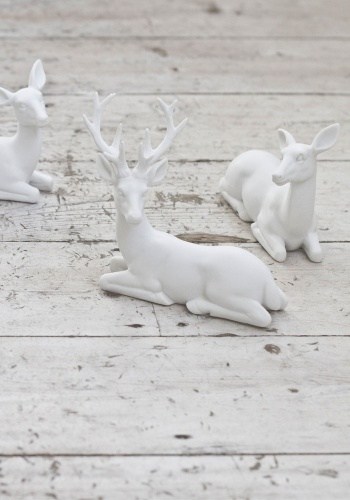 Set of white deer from www.bodieandfou.com