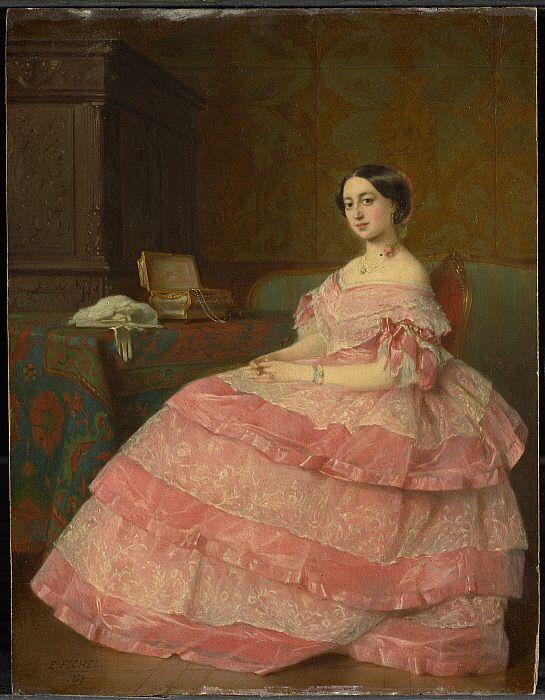 """Madame P . . ."", Eugène Fichel, 1857; CAI 1955.735"