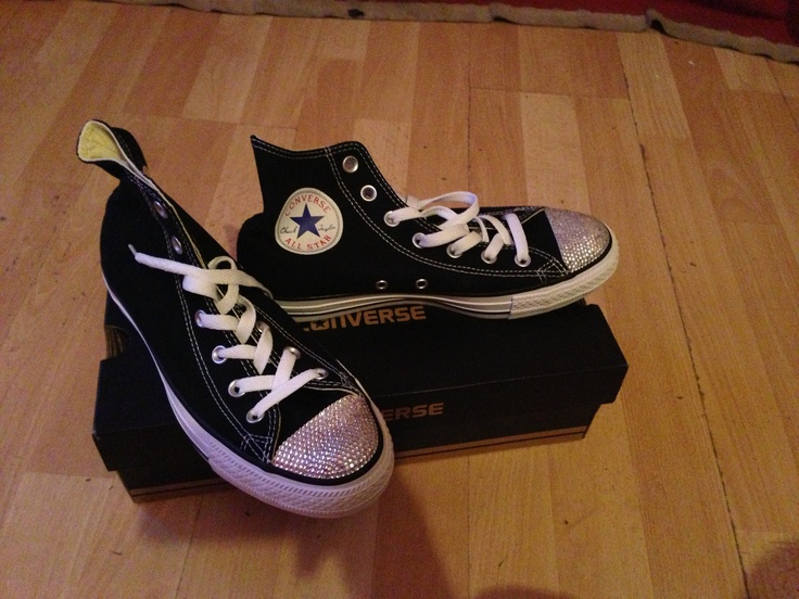 Black high top Swarovski crystallised converse's available now. Prices start from £15 please not this is to send in your own. You can purchase converse from us. Email info@sparklesbysam.co.uk for prices xx