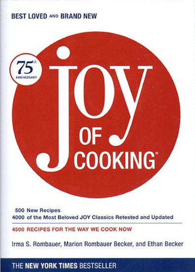 The Joy of Cooking - the classic. Once I bought this cookbook, I realized why it's been around so long. It's just a great cookbook that covers all the basics and more. And it's educational!