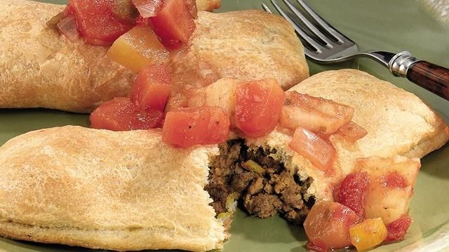 "Pillsbury Style Jamaican Meat Pies  (for those like me who don't do the homemade ""roll out the dough"" type of stuff)"
