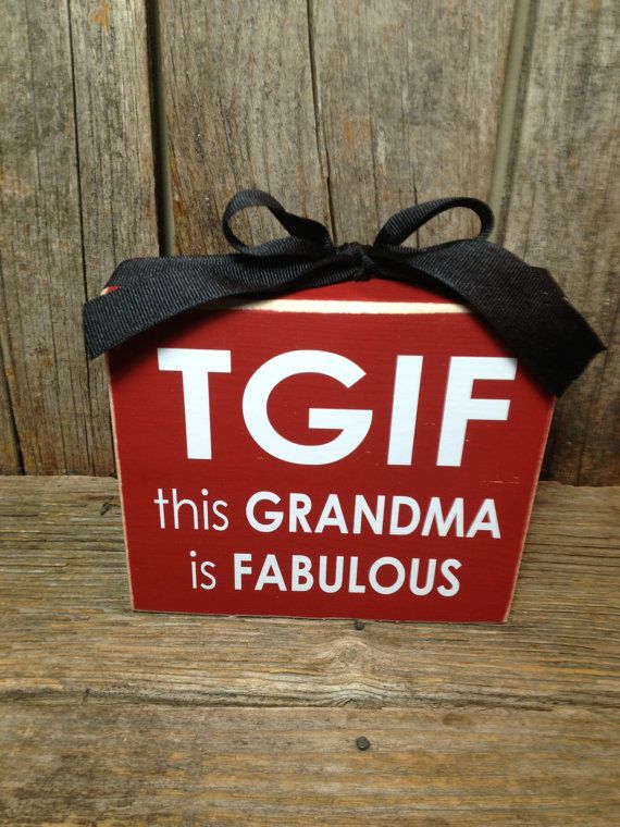 TGIF  this grandma is FABULOUS gift mothers day family home wood block set