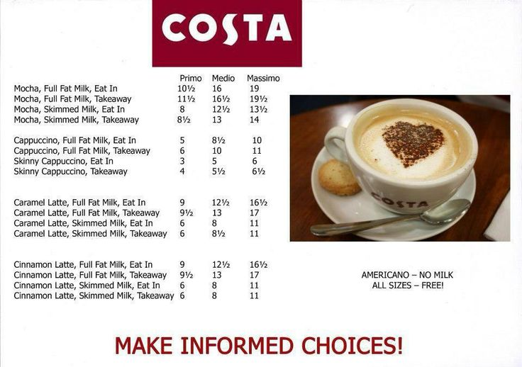 Costa Syns Slimming World Syn Values Pinterest Slimming Recipes And Food